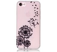 Glow in the Dark Dandelion Pattern Embossed TPU Material Phone Case for  iPhone 7 7 Plus 6s 6 Plus SE 5s 5
