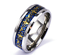 Men's Silver Alloy Band Ring Christmas Gifts