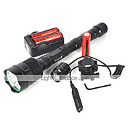 LED Flashlights / Torch LED 6000 lm 1 Mode Cree XM-L T6 Suitable for Vehicles Camping/Hiking/Caving Cycling/Bike Traveling Multifunction