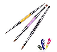 cheap -1pcs Professional Acrylic UV Gel Crystal Rhinestone Flat Paiting Drawing Lines Brush Pen DIY Salon Nail Tools