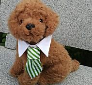 Недорогие -Собака пояс/Бабочка Одежда для собак В клетку Черный Кофейный Красный Зеленый Радужный Хлопок Костюм Для домашних животных Муж. Праздник