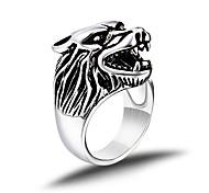 Муж. Классические кольца бижутерия Мода Винтаж Панк По заказу покупателя Титановая сталь В форме животных Волк Бижутерия Назначение
