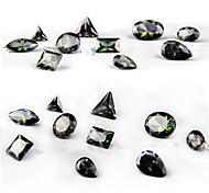 10PCS Difformity Luxurious  Black Color Intrigue  Zircon Jewel Nail Art Decorations