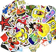 cheap -ZIQIAO 50 Pcs/ Pack Random Stickers Car Styling Funny Car Sticker Doodle Motorcycle Bike Travel Doodle