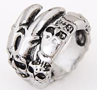Недорогие -Классические кольца Сплав В форме черепа Мода Винтаж Заявление ювелирные изделия Серебряный Бижутерия Для вечеринок Повседневные 1шт