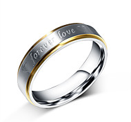 cheap -Men's Titanium Steel Band Ring - Personalized Fashion Silver Ring For Party Daily Casual