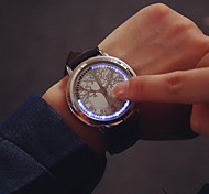Large Dial LED Touch Screen Couple Watches Luxury Brand Watches Women Dress Quartz Clocks Vintage Students Watch Wrist Watch Cool Watch Unique Watch