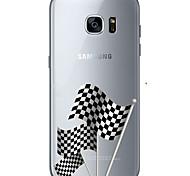Para Samsung Galaxy S7 Edge Estampada Capinha Capa Traseira Capinha Bandeira Macia TPU Samsung S7 edge / S7 / S6 edge plus / S6 edge / S6