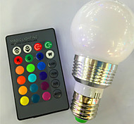 cheap -5W 120lm E26 / E27 LED Smart Bulbs G95 1 LED Beads High Power LED Dimmable Remote-Controlled RGB 85-265V 220-240V