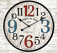 1PC Europe Type Restoring Ancient Ways Wooden  CoNtracted Sitting Room Adornment Clock Quartz Clock (Pattern is Random)
