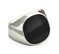 cheap -Men's Synthetic Sapphire Statement Ring - Personalized / Vintage / Fashion Silver / Golden Ring For Christmas Gifts / Daily / Casual