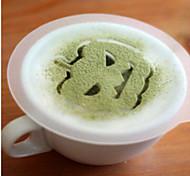8шт Хэллоуин пластиковые Гирлянда плесень распыления фантазии кофе молочной пены печать шаблон модель является случайным