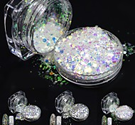 cheap -# Acrylic Powder Sequins Nail Glitter Glitter Powder Elegant & Luxurious Sparkle & Shine Nail Art Design Tools & Accessories