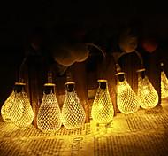 Jiawen 5m 20 LED-Metalltropfen Tring Licht Terrasse Hochzeit chritma Licht Urlaub Dekoration Schlafzimmer (ac 110-220V)
