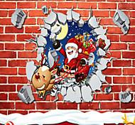 романтические рождественские наклейки снежинки стене витрины стеклянные декоративные наклейки в новом году 45 * 60 см