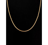 cheap -Women's Silver Plated Gold Plated Chain Necklace  -  Simple Style Jewelry Golden Necklace For Wedding Party Daily