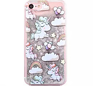 Case For Apple iPhone 7 iPhone 7 Plus iPhone 6 Flowing Liquid Pattern Back Cover Unicorn Hard PC for iPhone 7 Plus iPhone 7 iPhone 6s