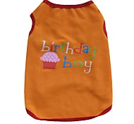 cheap -New Style Birthday Summer Clothing Birthday Boy and Girl Cake Cotton Dog Vest for Pets