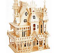 Пазлы Деревянные пазлы Строительные блоки DIY игрушки Замок 1 Дерево Со стразами