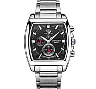 cheap -LONGBO Men's Quartz Sport Watch Water Resistant / Water Proof / Noctilucent Stainless Steel Band Luxury / Casual Black / White
