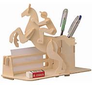 Пазлы Деревянные пазлы Строительные блоки DIY игрушки каретка / Лошадь 1 Дерево Со стразами Модели и конструкторы