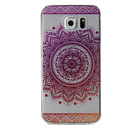 For Samsung Galaxy S7 Edge S7 Pink Flowers Pattern High Permeability TPU Material Phone Case