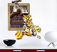 3d наклейки стены кран золото отверстие ПВХ материал стены декоративные наклейки кожи