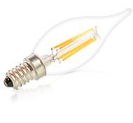 abordables -HRY 1pc 6W 560lm E14 Bombillas de Filamento LED C35L 6pcs Cuentas LED COB Regulable Decorativa Blanco Cálido Blanco Fresco 220-240V