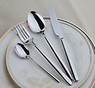 Нержавеющая сталь 304 Столовая вилка / Столовый нож Ложки / Вилки / Ножи / Ложки для сахара 4 шт.