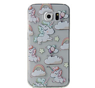 For Samsung Galaxy S7 Edge S7 White Horse Pattern High Permeability TPU Material Phone Case