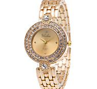 cheap -Women's Fashion Quartz Casual Watch Diamond Stainless Steel Belt Business Round Alloy Dial Watch Cool Watch Unique Watch Strap Watch