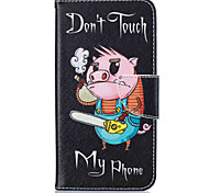 Card Holder Wallet with Stand Pig Pattern Case Full Body Case Hard PU Leather for Samsung Galaxy J5 (2016) J5 J3 J1 (2016)
