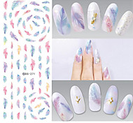 1 Стикер искусства ногтя Наклейка для переноса воды макияж Косметические Ногтевой дизайн