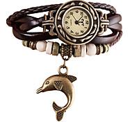 preiswerte -Damen Quartz Armbanduhr / Armband-Uhr Imitation Diamant / Punk PU Band Retro / Freizeit / Böhmische / Modisch Schwarz / Weiß / Blau / Rot