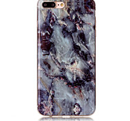 abordables -Funda Para Apple Funda iPhone 5 iPhone 6 iPhone 7 IMD Funda Trasera Mármol Suave TPU para iPhone 7 Plus iPhone 7 iPhone 6s Plus iPhone 6s