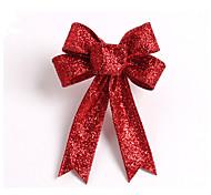 paillettes scintillantes arbre de noël arc décoration tissu 13cm 5 oreilles fleurs ornement arc nœuds pour la décoration de mariage à la