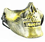 Недорогие -череп скелет airsoft пейнтбол наполовину лицо защитная экипировка маска страж halloween маскарад косплей сторона костюм prop