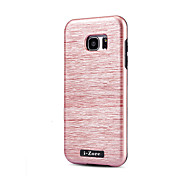 For Samsung Galaxy S7 edge S7 S6 edge Case Cover 2 in 1 PC TPU Design Hybrid Wire Drawing With Phone Protective Bag