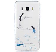 Dolphin Pattern Tpu Material Highly Transparent Phone Case For Samsung Galaxy G530 J3 PRO j1 J3 J5 J7 (2016)