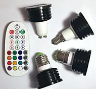 E14 GU10 B22 E26/E27 Spot LED MR16 1pcs LED Haute Puissance 400 lm RVB K Intensité Réglable Audio-activé Commandée à Distance Décorative V
