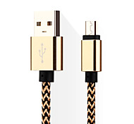 cheap -Micro USB 3.0 USB Cable Adapter Braided Cable For Samsung Huawei LG Nokia Lenovo Motorola Xiaomi HTC Sony 14*5*1 cm Nylon