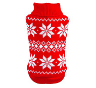 cheap -Cat Dog Sweater Christmas Dog Clothes Snowflake Red Blue Cotton Costume For Pets Men's Women's New Year's