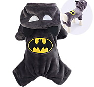 Cat Dog Costume Hoodie Dog Clothes Cute Cosplay Cartoon Black Costume For Pets