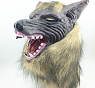 cheap -Halloween Masks Masquerade Masks Toys Wolf Head Latex Rubber Horror 1 Pieces Halloween Masquerade Gift