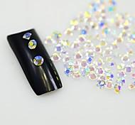 Недорогие -120pcs четкие ногтей Стразы ногтей кристаллы блеск украшений Инструменты, не являющиеся исправление горный хрусталь декора стеклянных