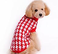 Коты Собаки Свитера Одежда для собак Зима Полоски Милые На каждый день Рождество Черный Красный