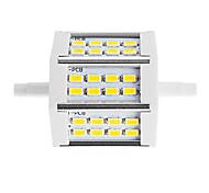 Недорогие -450 lm R7S LED прожекторы Трубка 24 светодиоды SMD 5730 Декоративная Тёплый белый Холодный белый AC85-265 AC 220-240V