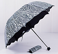 cheap -South Korea Princess Arched Zebra  Appollo Lotus Leaf Edge  Seventy Percent Off Sunny Umbrellas  Black Gel Anti UV  Sun Sun Umbrella