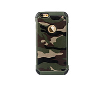cheap -Case For Apple iPhone 8 iPhone 8 Plus iPhone 6 iPhone 7 Plus iPhone 7 Shockproof Back Cover Camouflage Color Hard PC for iPhone 8 Plus