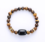 Men's Women's Strand Bracelet Yoga Bracelet Synthetic Gemstones Agate Amber Turquoise Jewelry For Party Birthday Congratulations Business